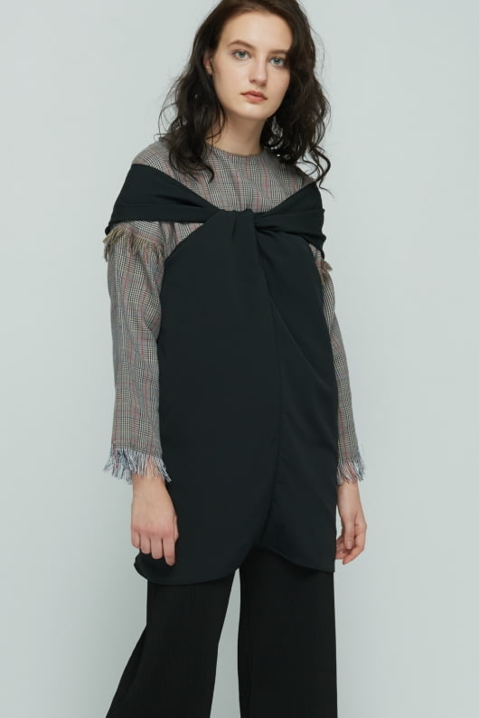 Shopatvelvet Black Wishful Top