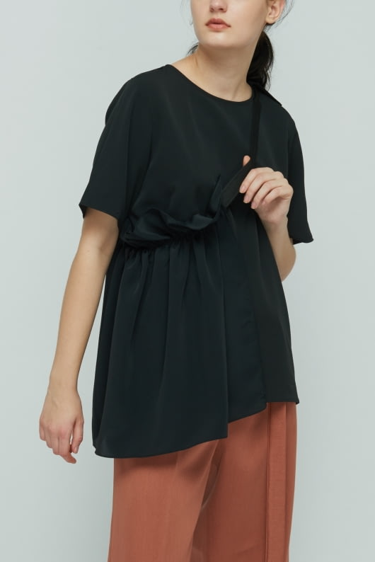 Shopatvelvet Black Petal Top