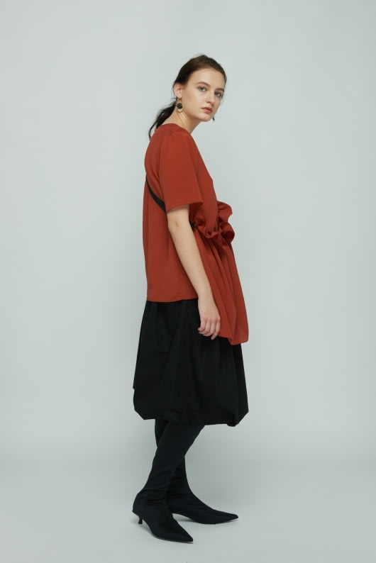 Shopatvelvet Rust Petal Top