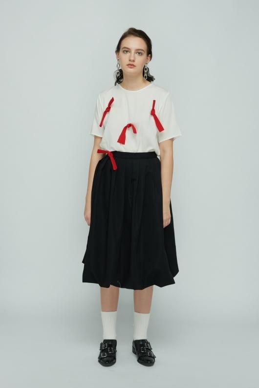 Shopatvelvet White Bow Top
