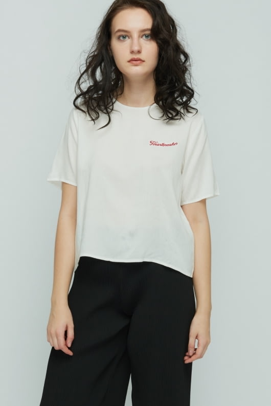 Shopatvelvet White Heartbreaker Top