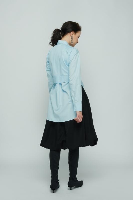 Shopatvelvet Blue Present Shirt