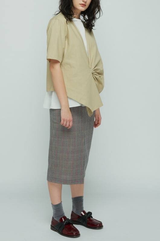 Shopatvelvet Brown Secretary Skirt
