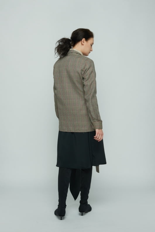 Shopatvelvet Brown Anagram Jacket