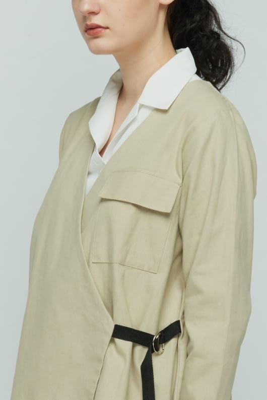 Shopatvelvet Beige Explorer Jacket