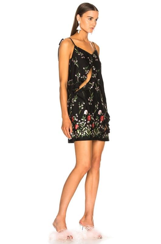 Marques ' Almeida Embroidered Slip Dress
