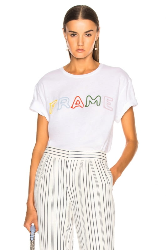 FRAME Rolled Letter Tee