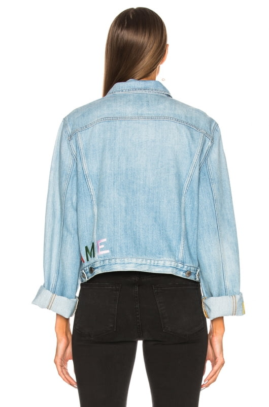 FRAME Embroidered Cuffed Jacket