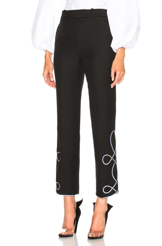 CALVIN KLEIN 205W39NYC Uniform Twill Embroidered Cropped Trousers