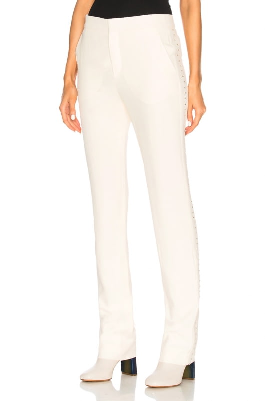 Chloe Light Cady Crystal Embellished Trousers