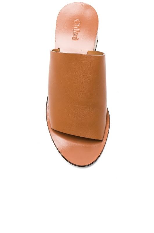 Chloe Qassie Semi-Shiny Calf Leather Mules