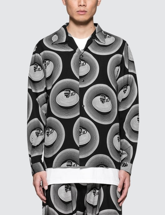 Brain Dead X Sasquatchfabrix. Acid Open Collar Shirt