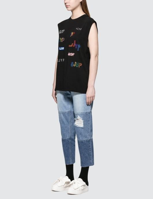 SJYP Multi Tone Jeans