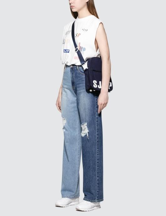 SJYP Side Two Tone Jeans