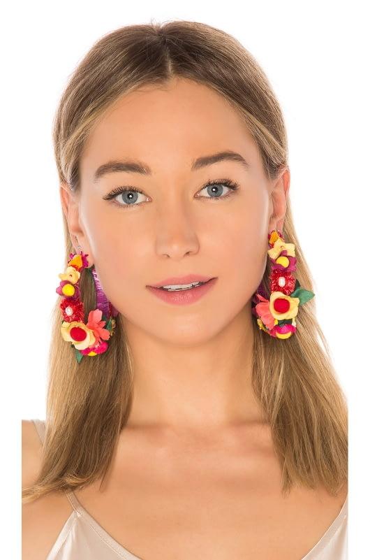 Ranjana Khan Floral Hoop Earring