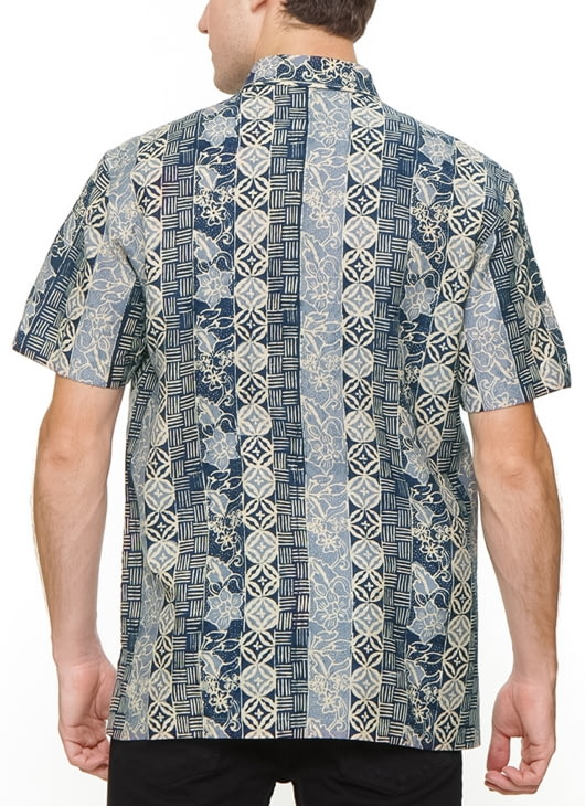 The Cufflinks Store Blue Short Sleeve Batik Shirt