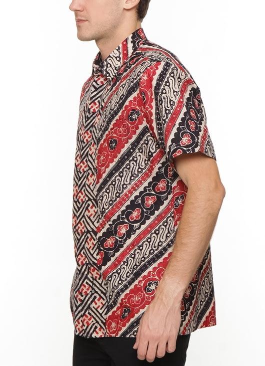 The Cufflinks Store Red Short Sleeve Batik Shirt