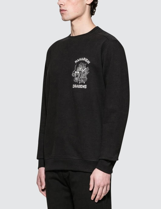 maharishi Stencil Dragon Chest Sweatshirt