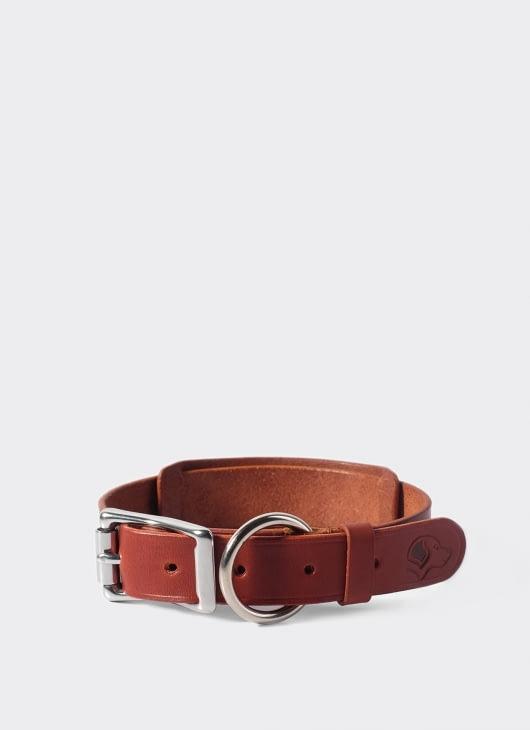 VOYEJ LEATHER GOODS Chesnut Dog Collar Necklace