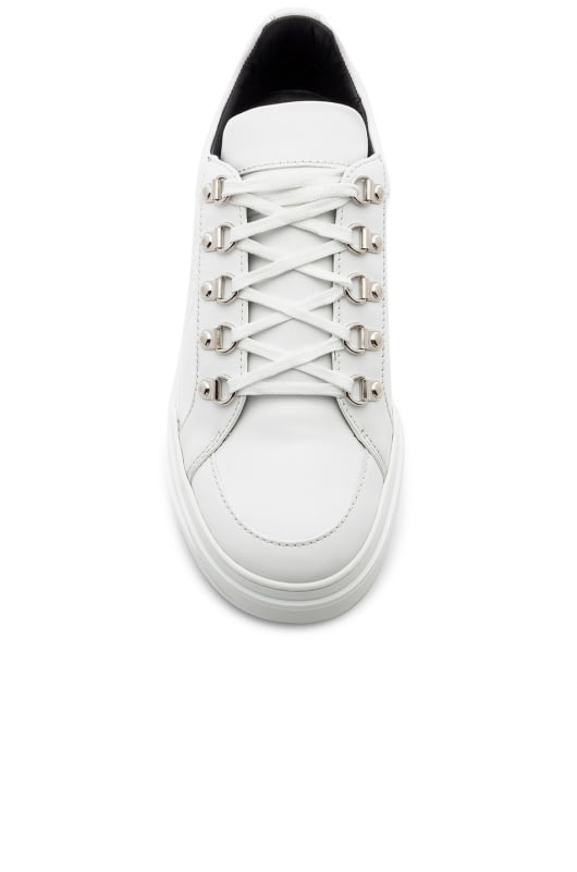 BALMAIN Leather Coral Low Sneakers