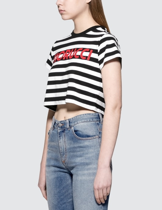 Fiorucci Super Cropped Stripe T-Shirt
