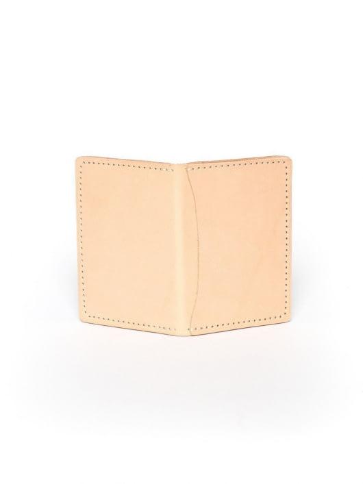 Wood&Faulk Wood&Faulk Front Pocket Natural Vegetable Tan Wallet