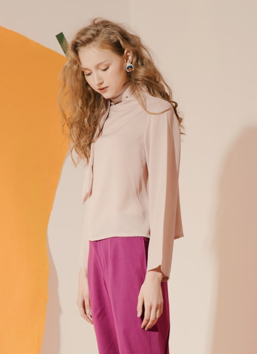 ATS THE LABEL Dusty Pink Marsha Top