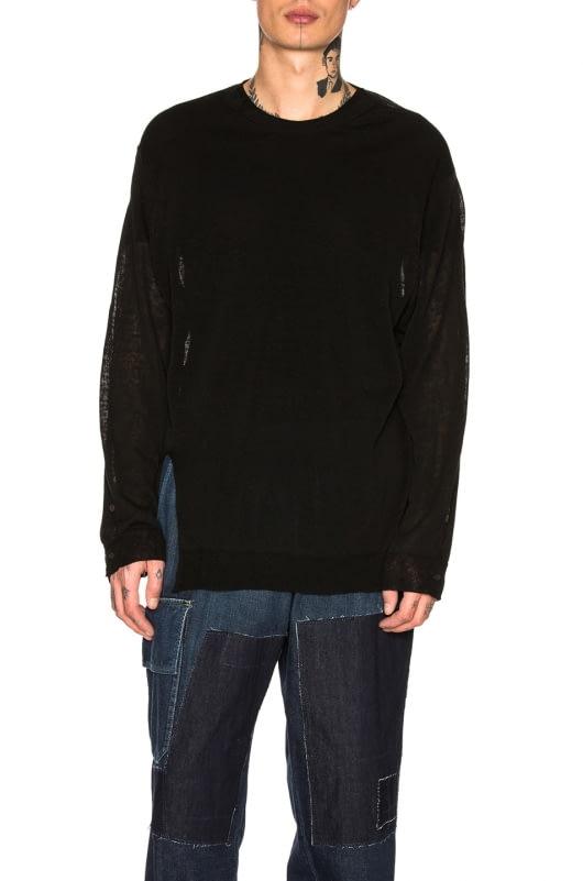 Yohji Yamamoto Slit Open Sweater