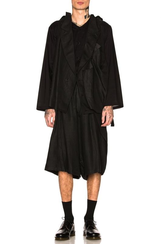 Yohji Yamamoto Side Wrap Short