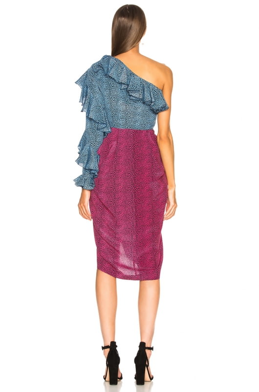 Philosophy di Lorenzo Serafini One Shoulder Midi Dress