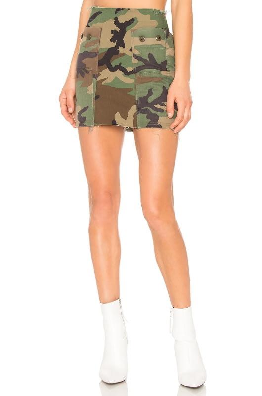KENDALL + KYLIE Repurposed Camo Skirt