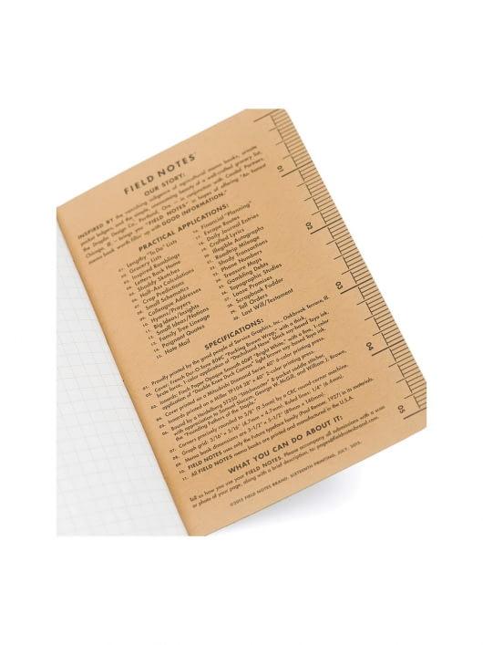 Field Notes Field Notes Original Kraft 3 Packs Graph Paper