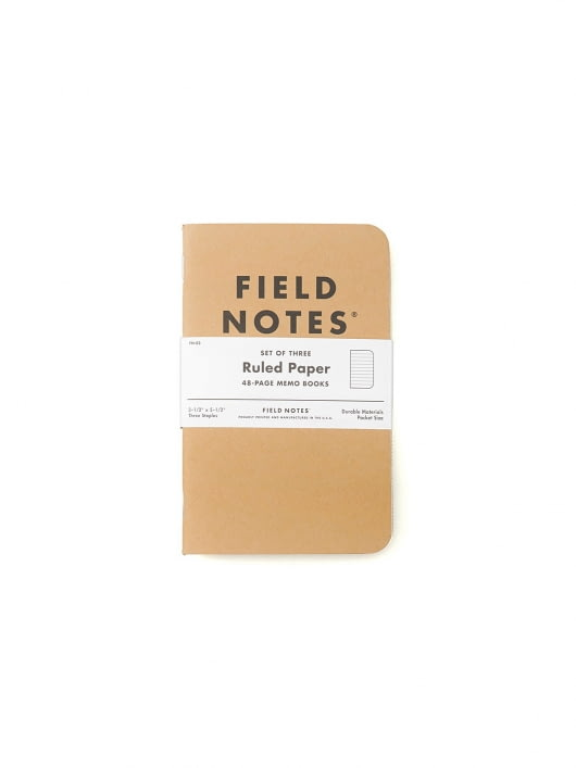 Field Notes Field Notes Original Kraft 3 Packs Ruled Paper