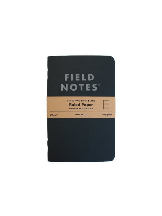 Field Notes Field Notes Pitch Black Note Book 2 Packs Ruled Paper