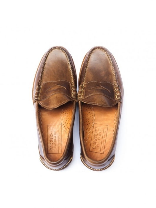 Oakstreet Bootmakers Oakstreet Bootmakers Natural Beefroll Penny Loafer