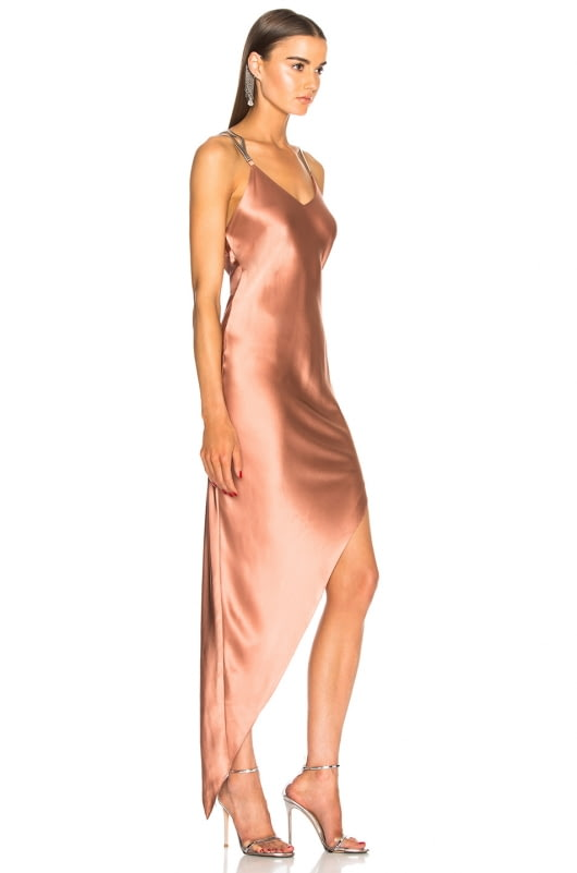 Michelle Mason Bias Chain Dress