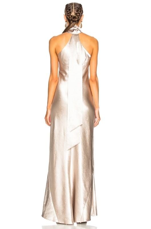 GALVAN Asymmetrical Bias Cut Dress