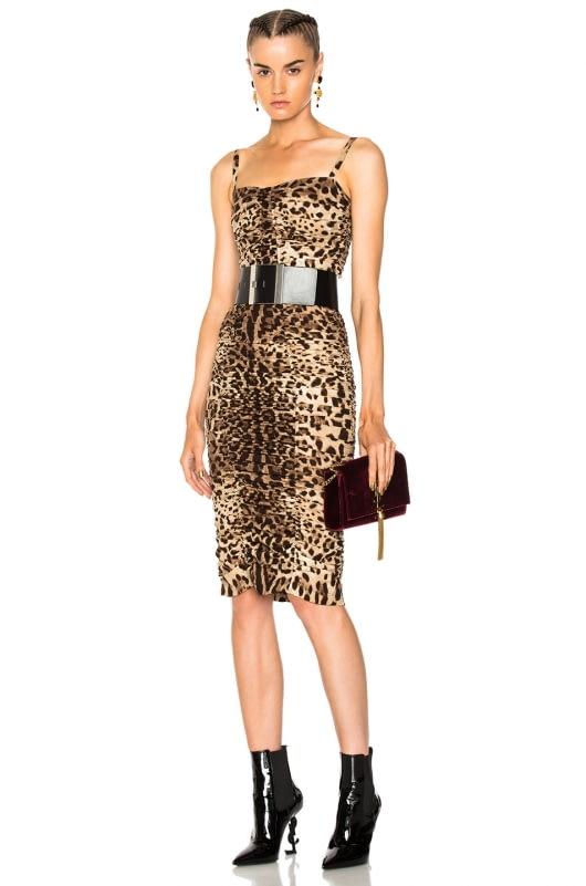 Dolce & Gabbana Printed Ruched Tank Dress