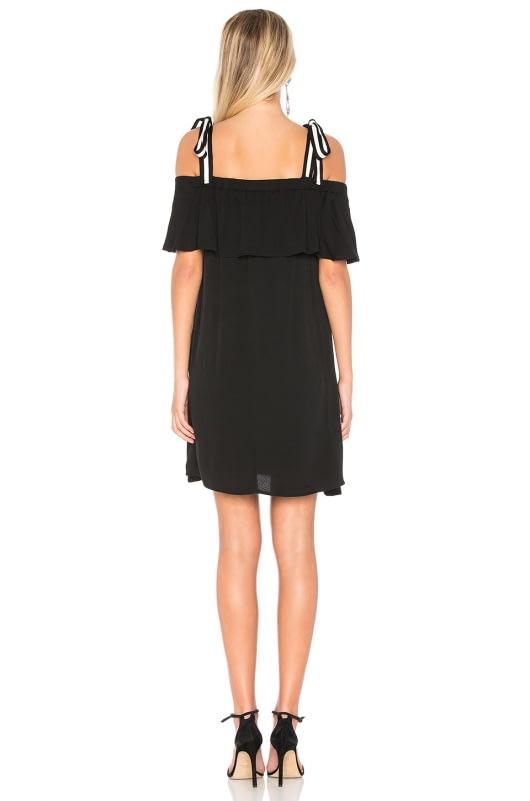 Bobi BLACK Tie Shoulder Dress