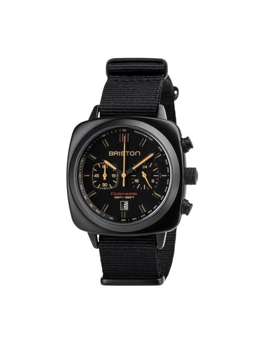 Briston Briston Clubmaster Sport Acetate Chronograph Black Matt 42mm