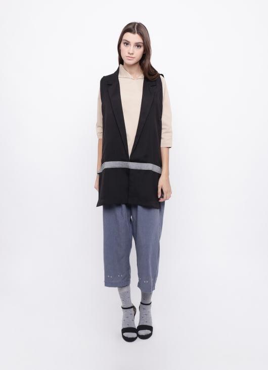 KOMMA Black Calya Vest
