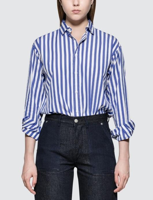 Polo Ralph Lauren L/S Shirt with Blue Stripe