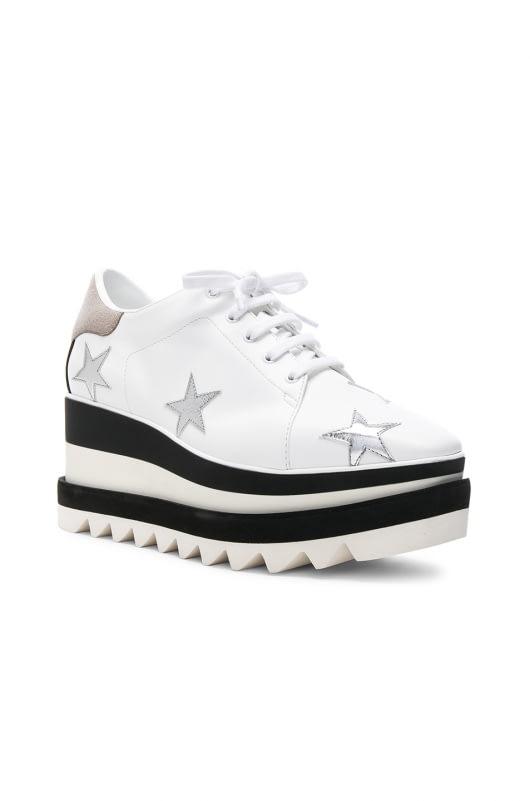 Stella McCartney Star Embroidered Sneakelyse Platform Sneakers