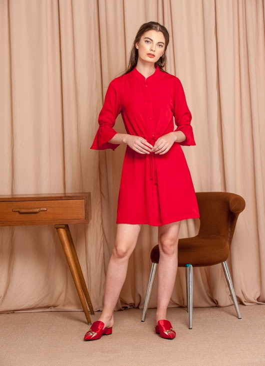 M By Mischa Red Rocco Dress