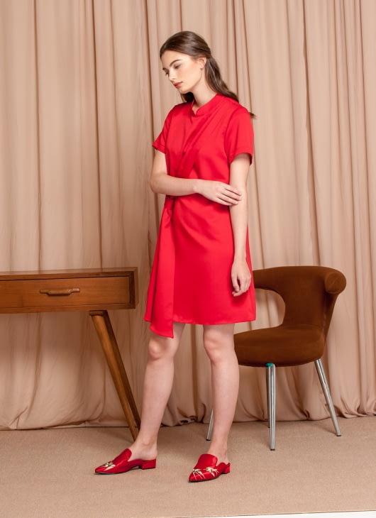 M By Mischa Red Poppy Dress
