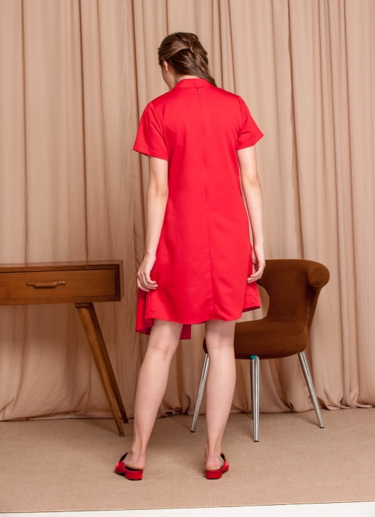 M By Mischa Red Petunia Dress