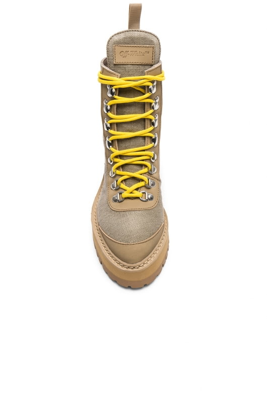 OFF-WHITE Canvas Hiking Boots