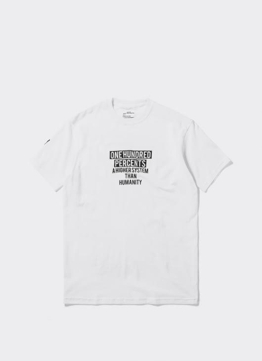 Mass Media Murder White One Hundred Percent Logo T-Shirt