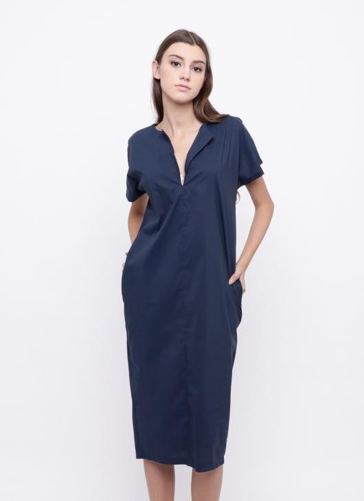 KOMMA Navy Saga Dress