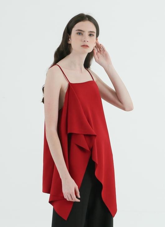 CORE ATTIRE Cardinal Red Alexa Top